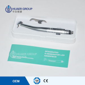 E-Generator LED High-Speed Dental Air Trubine Push Button Handpiece pictures & photos