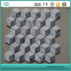 Mosaic Stone Tiles Natural Marble, Mosaic Tile Carrara White Marble Staturary White Marble pictures & photos