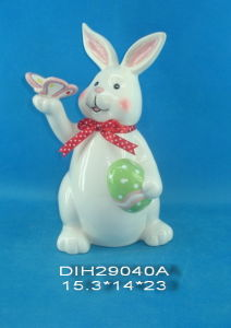 Hand-Made Ceramic Rabbit for Easter Decoration pictures & photos