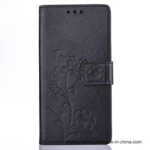 Embossed Leather Wallet Cell Mobile Phone Case for Samsung Series pictures & photos
