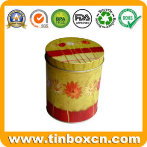Metal Round Tin Container with Food Grade, Gift Tin Box pictures & photos