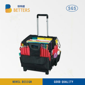 LED Light 2 Wheel Folding Tool Box of Campus Life pictures & photos