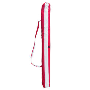Foldable Red Stripe Tc Fabric High Quality Beach Umbrella pictures & photos