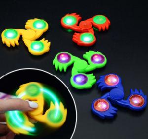 New Toy Fingertip Gyroscope Light Silicone Fidget Spinner Finger Gyroscope