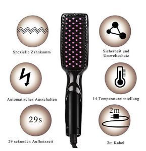 Hair Care Product Ceramic Hair Straightening Brush LED Display
