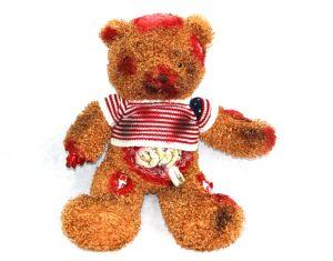 2017 New Design Scary Teddy Bear Creepy Zombie Bear Undead Bear Bloody Bear Horrible Teddy Bear