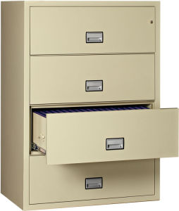 Cheap 4 Drawer Black Lateral File Cabinet for Office pictures & photos