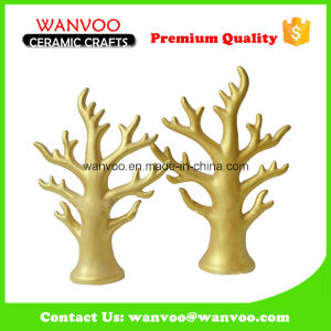 Artificial Hand Sharp Porcelain Golden Tree Decor for Hanging pictures & photos