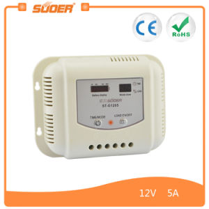 Suoer LCD Display 12V 24V 5A Solar Power System Controller (ST-G1205) pictures & photos