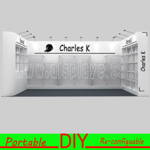 Build and Install Portable Versatile Reusable Modular Exhibition Stand with PVC Shelves Display pictures & photos