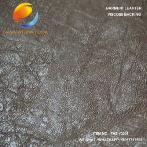 Nice Grain PU Synthetic Leather of Garment Faz Y2005 pictures & photos