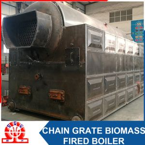 Industrial Szl 10.5-1.25MPa Double-Drum Horizontal Biomass Fired Hot Water Boiler pictures & photos
