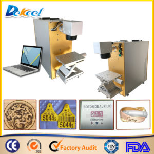 Raycus 20W Fiber Laser Marking Ring/Wood Decoration/Musical Instrument Machine pictures & photos