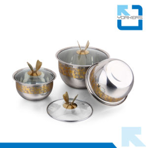 3 Pieces Stainless Steel Multi-Purpose Soup Bowls Set pictures & photos