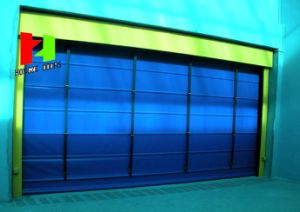 Japan Automatic Fast High Speed Roll up Sheet Shutter PVC Fabric Rapid Door (Hz-FC0423) pictures & photos