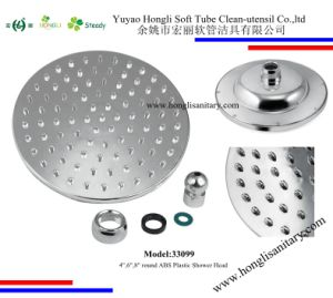 "33099 ABS Plastic Shower Head in 4"", 6"", 8"" Chrome Plated pictures & photos"
