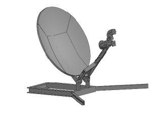 0.5m Aluminum Flyaway Antenna pictures & photos