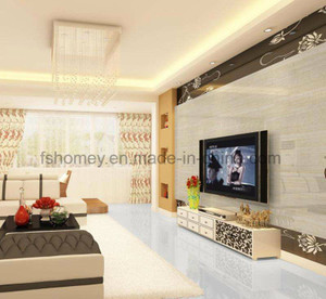 Anti-Slip 3D Super White Polished Floor Tile with Two Size pictures & photos