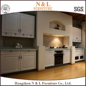 White Color Wooden Modern Home Furniture Solid Wood Kitchen Cabinet pictures & photos