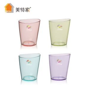 Metka Household Plastic Transparent Oval Cup pictures & photos