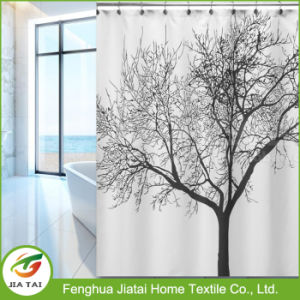 Polyester Black White Best Elegant Tree Shower Curtain pictures & photos
