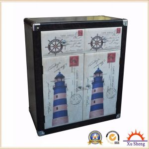 Aluminum Sheet 2 Drawer 2 Door Storage Cabinet with Matine Fabric Print pictures & photos