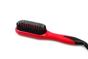 Hair Care Product LED Display Ceramic Hair Straightening Brush pictures & photos