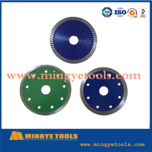 110mm Hot Press Sintered Super Thin Turbo Porcelain Cutting Diamond Saw Blade pictures & photos