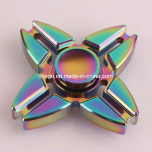 High Speed LED Alloy Metal Fidget Hand Toys Cube Spinner pictures & photos