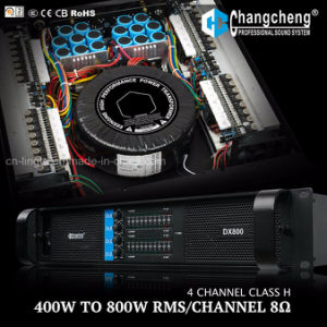 Dx Series 4 Channel Class H Professional Power Amplifier pictures & photos