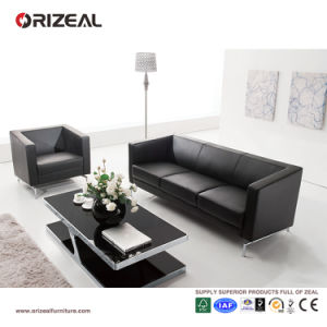Orizeal Italian Leather Modern Office Sofa Set for Sale (OZ-OSF002) pictures & photos