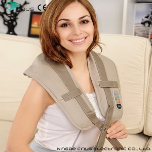 Electric Shiatsu Vibration Neck Shoulder Massage Belt pictures & photos
