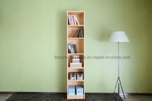 Modern Wooden Birch Veneer Clear Lacquer Bookcase (AD-FY-N706-SJ) pictures & photos