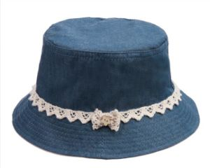 Children′s Flat Top Floral Lace Bucket Hat pictures & photos