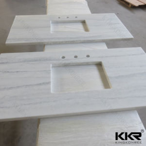 Kingkonree Texture Marble Solid Surface Stone Bathroom Counter Top pictures & photos