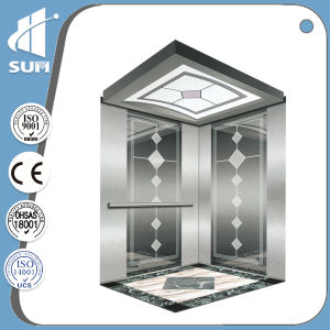 Speed 1.5m/S with Machine Room 304 Stainless Steel Passenger Elevator pictures & photos