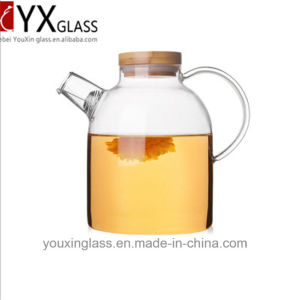 1.8L High Quality Borosilicate Cold Water Jug/Heat-Resistant Clear Glass Water Jug/Glass Cold Water Pitcher Pot Jug with Bamboo Lid pictures & photos