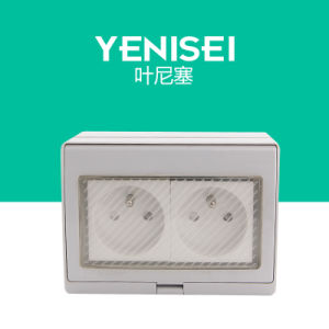 Yrl-2fr 16A 2 Gang French Waterproof Wall Socket pictures & photos
