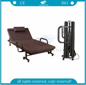 AG-Fb003b Height Adjustable Manual Hospital Folding Bed pictures & photos