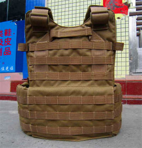 Classical Design Safety Kevlar Plates Full Protection Multi-Pockets Military Green Tactical Outdoor Travelling Quick-Release Vest pictures & photos