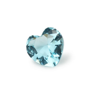 Heart Shape Sea Blue Beads Artificial Diamond Aquamarine Glass Stone pictures & photos