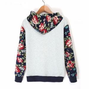 Custom Women Cotton Fleece Fashion Print Hoodies Sports Pullover Top Clothing (AL042) pictures & photos
