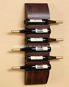 Hot Sales 6 Bottle Wall Mounted Wine Rack Pine Rack pictures & photos