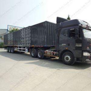 Tri Axles Van Body Truck Cargo Box Semi Trailer with High Quality pictures & photos