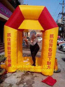 Inflatable Cash Cube Logo Customized Inflatable Money Booth for Adverting