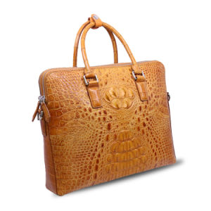 Men Genuine Leather Business Briefcase Crocodile Laptop Bag Computer Briefcase pictures & photos