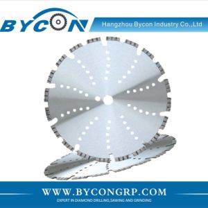 Bycon 14′′ laser weld diamond saw blade with turbo segment pictures & photos