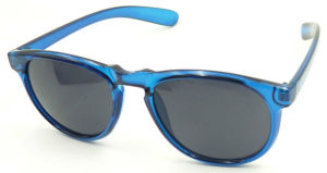 F17050 Flat Top Classical Plastic Sunglass, Cheap Round Sun Glasses pictures & photos