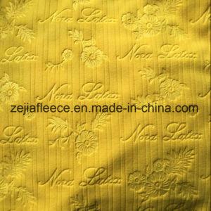Embossed Mirco Fleece Fabric in Drop Needle pictures & photos