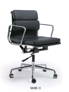 Modern Black Chair Set Leather Eames Office Chair pictures & photos